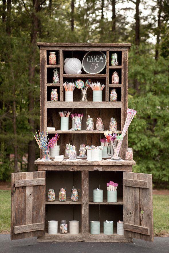 Bodas mesa dulce perlas y coco - Muebles para bodegas rusticas ...