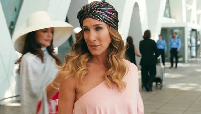 Sarah Jessica Parker in a film: Sex and the City 2.