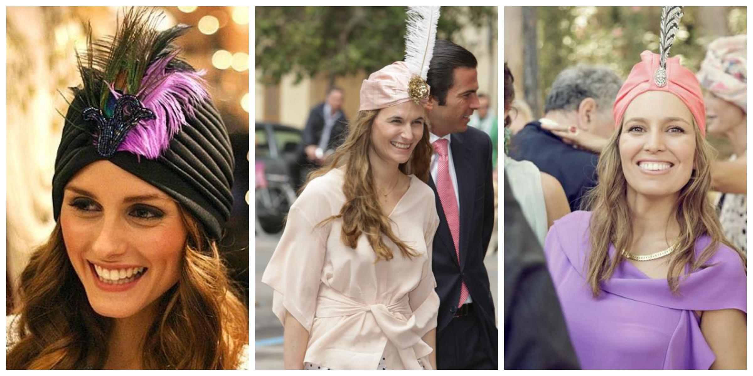 Turbante para invitadas perlas y coco - Turbantes para novias ...