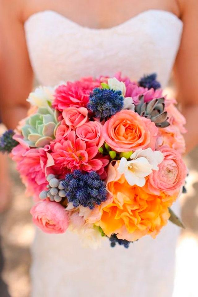 ramos de novia perlas y coco On ramos de novia de colores