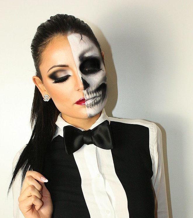 Pensando en halloween perlas y coco for Pinturas de cara para halloween