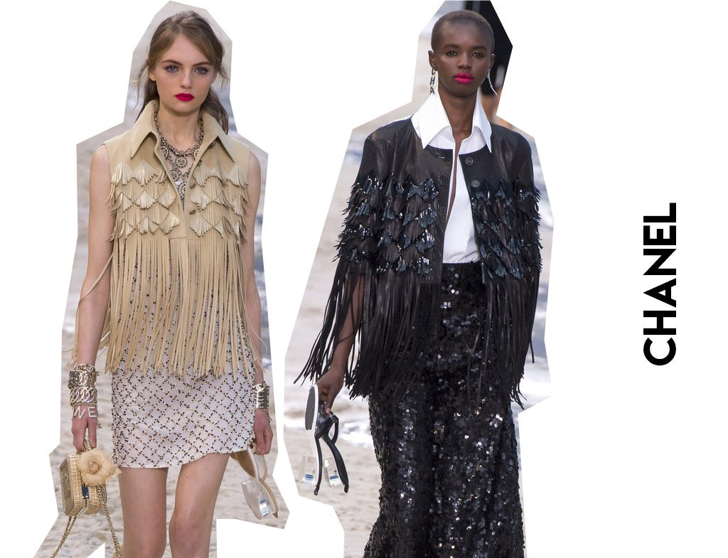 Tendencias primavera verano 2019 Flecos Desfile Chanel