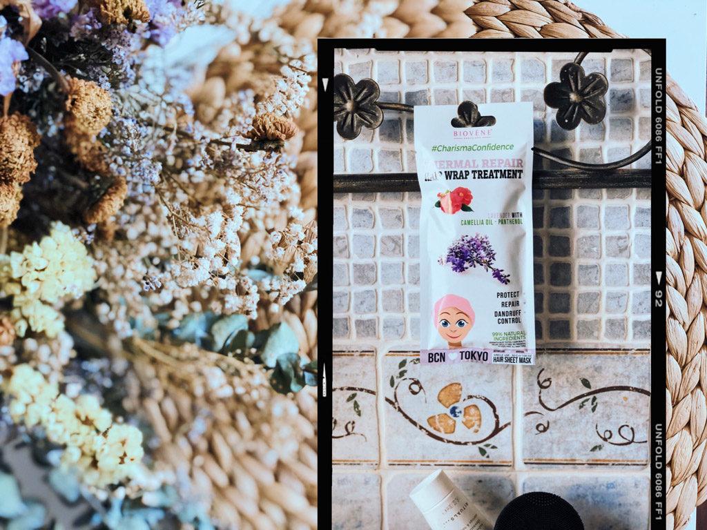Termal repair hair wrap mascarilla para el cabello de la marca Biovene Barcelona