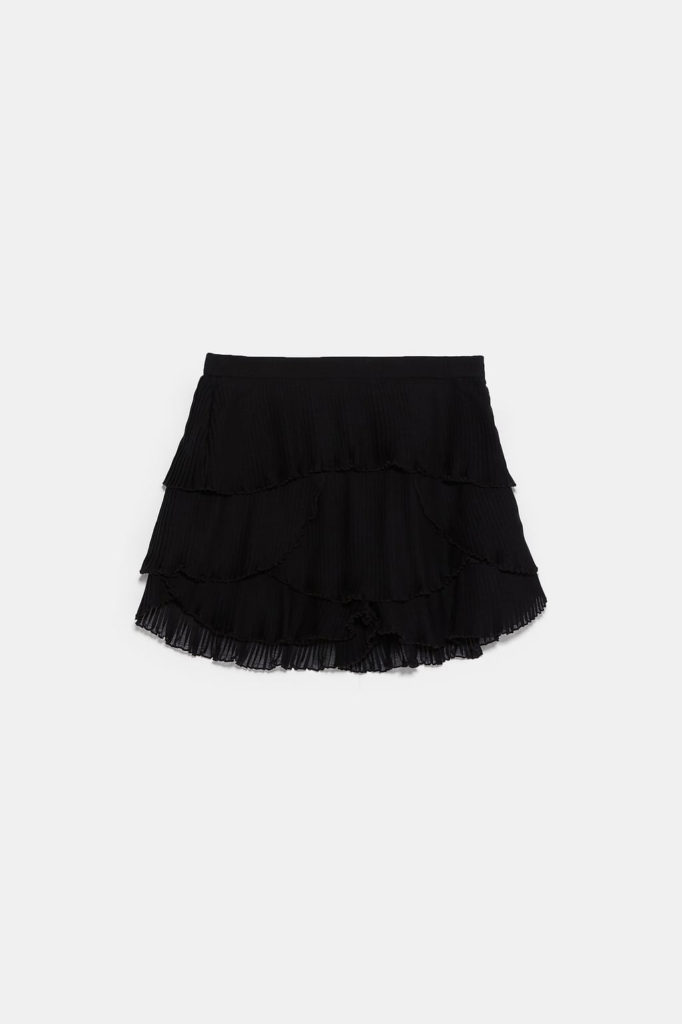 Short plisado Zara