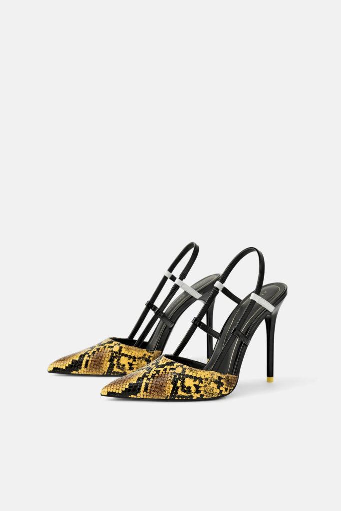 Zapato destalonado estampado animal