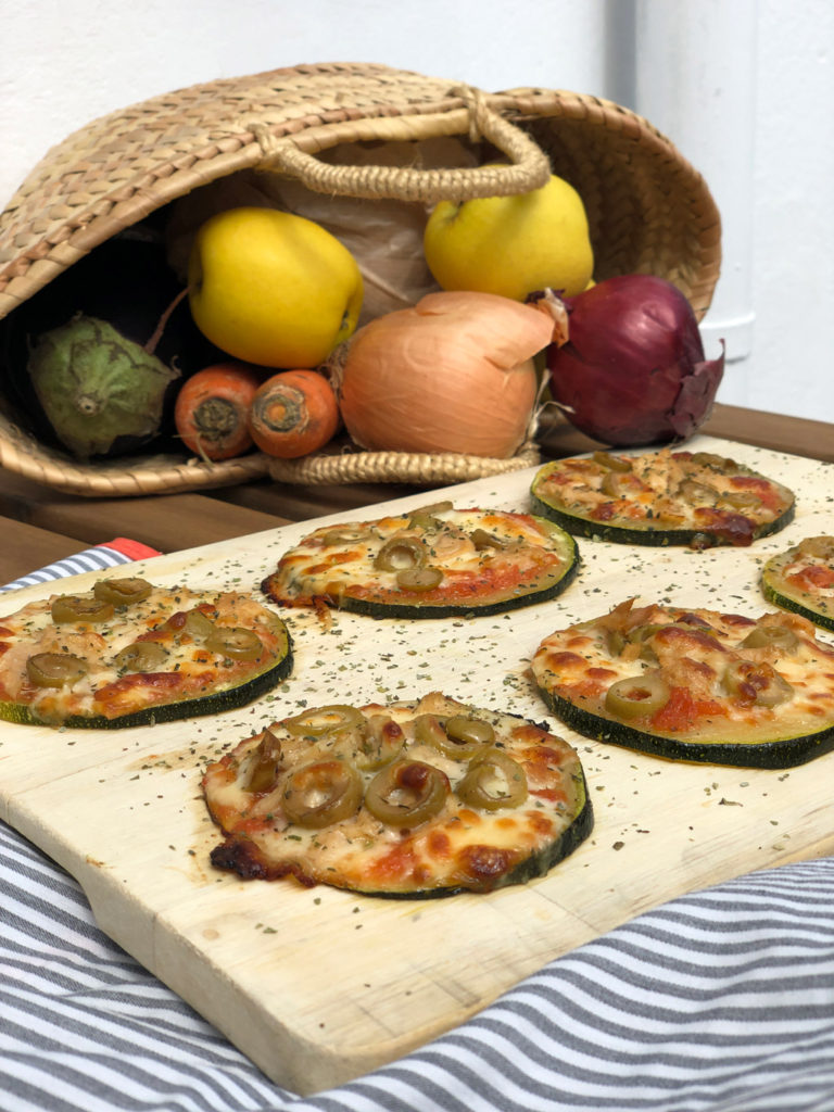 Mini pizzas de calabacín