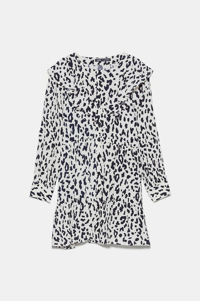 Mini vestido print animal Zara