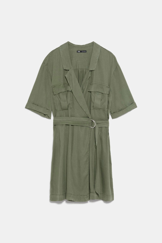 Vestido militar Zara