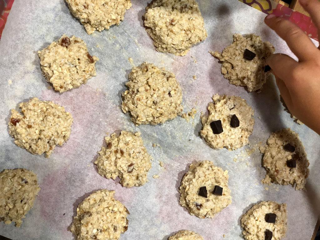 Elaboracion galletas realfooding de avena y coco