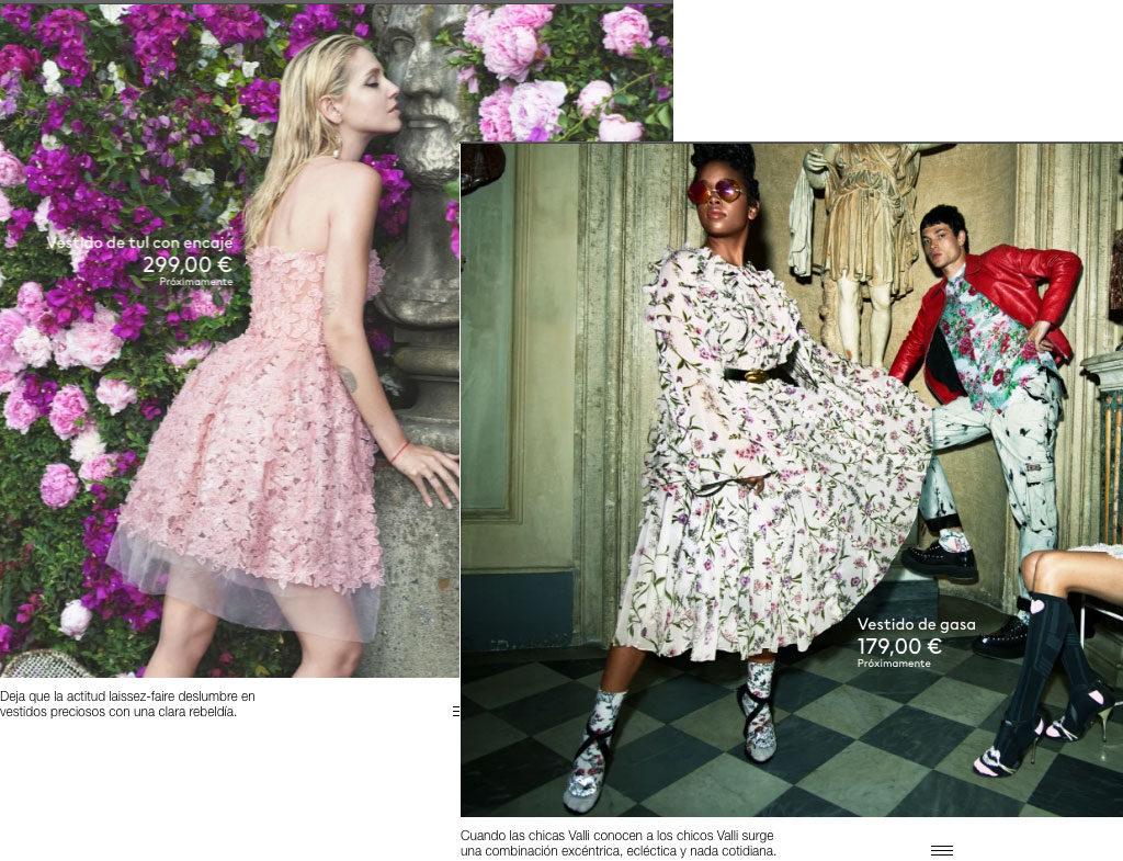 Vestidos cortos de la colección de H&M