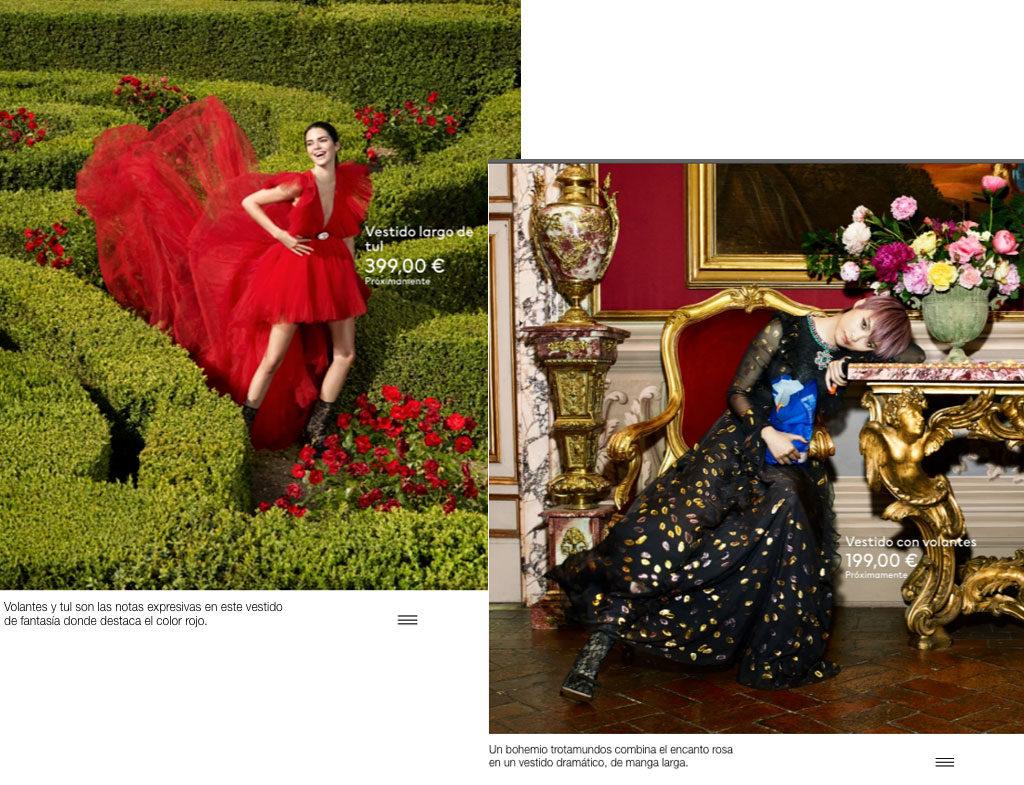 Vestidos de la colección de H&M y Giambattista Valli