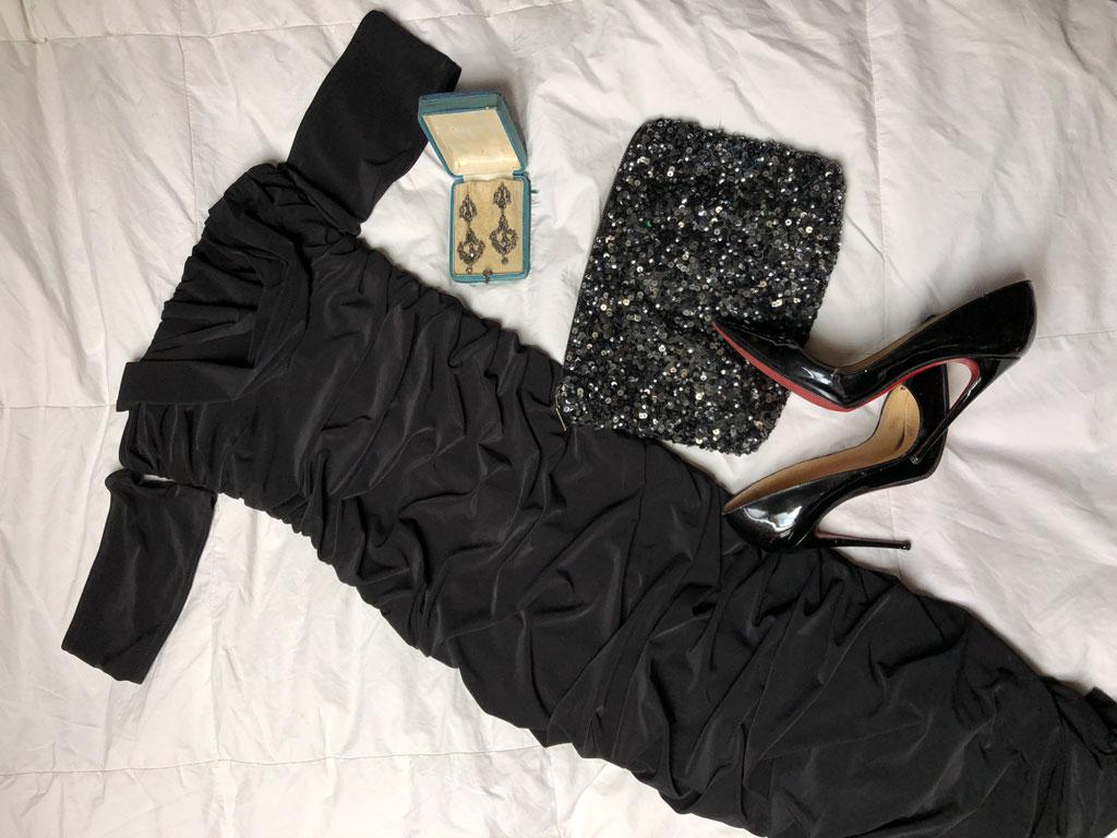 Vestido escote bardot Femme Luxe
